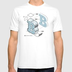 The Exploded Alphabet / B MEDIUM White Mens Fitted Tee