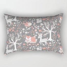 Woodland Pink Rectangular Pillow