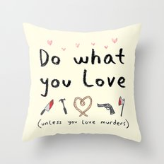 Motivational Poster Throw Pillow