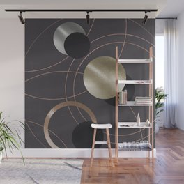Golden Eclipses Wall Mural