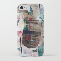 kandinsky iPhone & iPod Cases featuring whale in reassembled Kandinsky by Osome Beamer