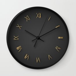 Time is Gold Wall Clock