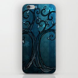 LEAVE - Winter Cyan iPhone Skin