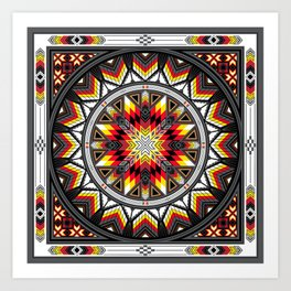 Sacred Places Red Art Print