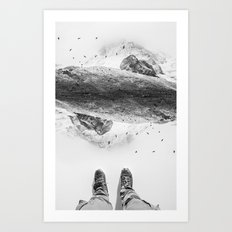 Solid ground Art Print