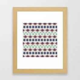 Global Stripe Framed Art Print