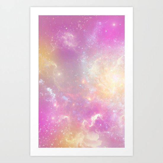 Pink Galaxy Art Print