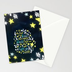 Shatter Me - Stars quote design Stationery Cards