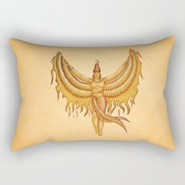 Isis, Goddess Egypt with wings of the legendary bird Phoenix Rectangular Pillow