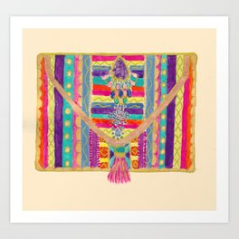 Ethnic clutch bag Art Print