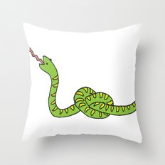 Sssssnake? Throw Pillow