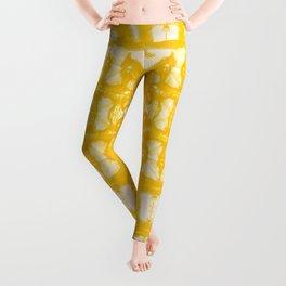 Yellow Oxford Shibori Leggings