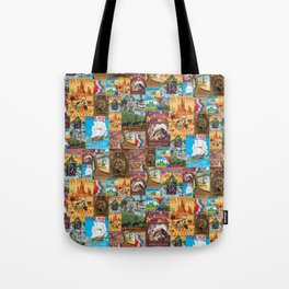 Frontierland Vintage Attraction Posters Tote Bag