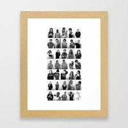 Points Collage.  Framed Art Print
