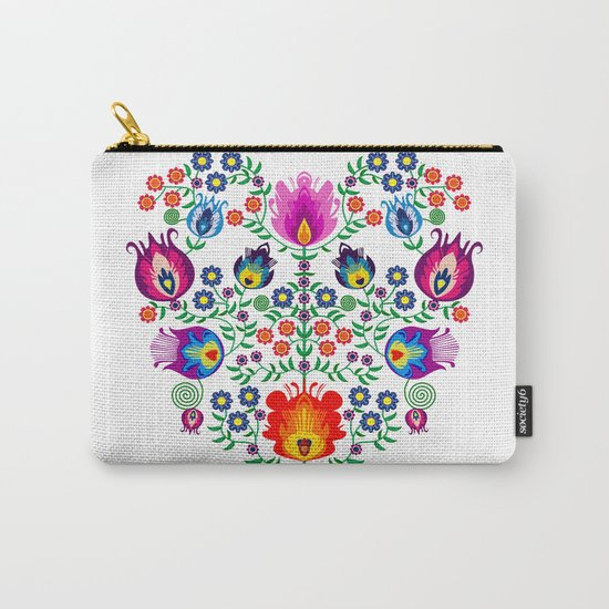 Folk Pattern - Flower Carry-All Pouch