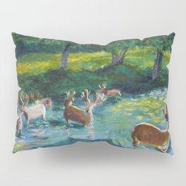 Walking through a Sapphire River Pillow Sham