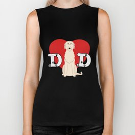 Dad Irish Wolfhound Biker Tank