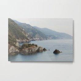 Cinque Terre Coastline Metal Print