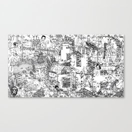 Hello Characters Canvas Print