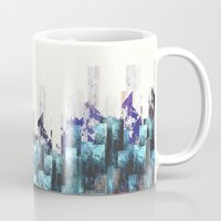 cities Mugs featuring Cold cities by HappyMelvin
