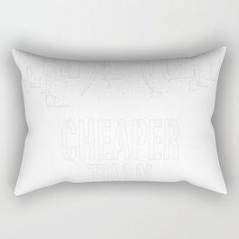 Basketball cheaper than therapy Rectangular Pillow