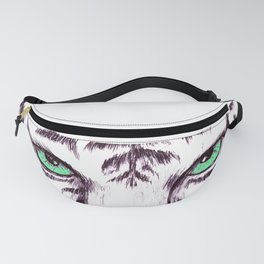 Peeping Green eyed Tiger Fanny Pack
