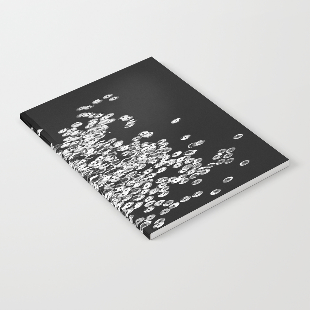 Silver Glittering Sequins Notebook by Lorasi NBK8447334