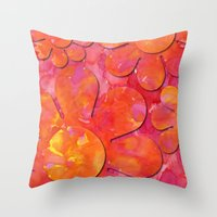 camo Throw Pillows featuring Camo flowers by Shelly Bremmer
