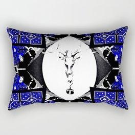 Deer Rose Cross 3 Rectangular Pillow