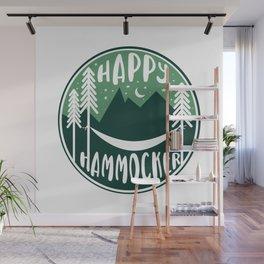 Happy Hammocker - Green Night Sky Wall Mural