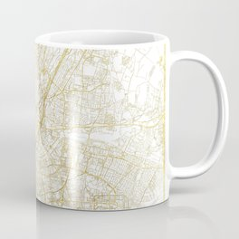 Munich Map Gold Coffee Mug