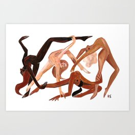 Together we dance Art Print