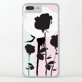 Roses with ink Clear iPhone Case