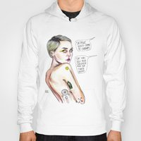 miley Hoodies featuring Satanist miley  by Lucas David