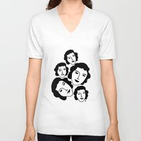 women V-neck T-shirts featuring Women by Emmanuelle Ly