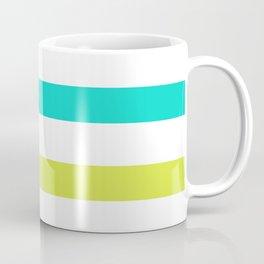Green and Yellow Horizontal Stripes Coffee Mug