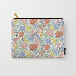 Bird Floral Carry-All Pouch