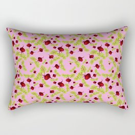 Blushing Pink Beauty and the Beets Rectangular Pillow