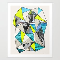 PALM POINT Art Print