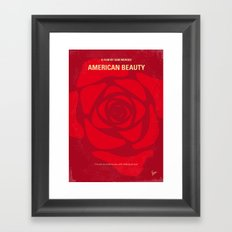 No313 My American Beauty minimal movie poster Framed Art Print