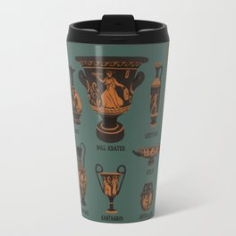 Ancient Greek Pottery Travel Mug