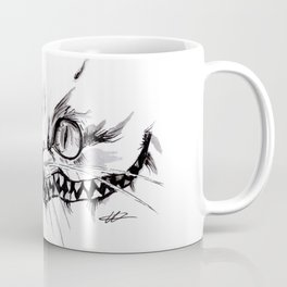 Cheshire Smile Inktober Drawing Coffee Mug