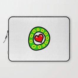 Uppercase Doodle Letter O Laptop Sleeve