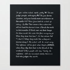 Psalm 58 Canvas Print