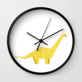 Origami Diplodocus Wall Clock