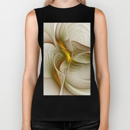 Abstract With Colors Of Precious Metals, Fractal Art Biker Tank