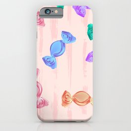 Hard candy seamless pattern iPhone Case