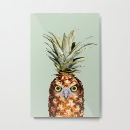 PINEAPPLE OWL Metal Print