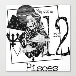 Pisces- Zodiac Sign Canvas Print