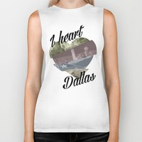 dallas Biker Tanks featuring Dallas by Prints_by_Gabriel